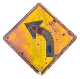 Isolate old sign, turn left. Stock Images