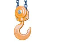 The isolate of orange hook Stock Image