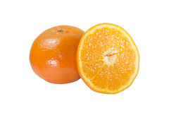 The isolate of orange and slice fruit Royalty Free Stock Images