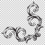 Isolate ornament in baroque style Stock Photos