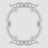 Isolate ornament in baroque style Royalty Free Stock Photography