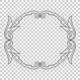 Isolate ornament in baroque style Royalty Free Stock Images