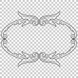 Isolate ornament in baroque style Stock Image