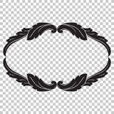 Isolate ornament in baroque style Stock Photo