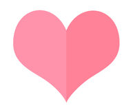 Isolate Pink Heart Royalty Free Stock Photography