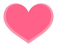 Isolate Pink Heart Stock Images
