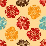 Isolate poppy realistic on the beige background. Stock Photography