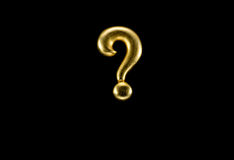 Golden question mark Stock Photography