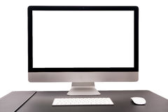 Isolate of retina display with keyboard and mouse Royalty Free Stock Photo