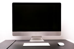 Isolate of retina display with keyboard and mouse Stock Photo