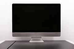 Isolate of retina 5K display 27 inches white background Royalty Free Stock Photos