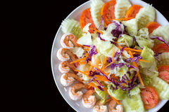 Isolate Shrimp Salad Stock Photography