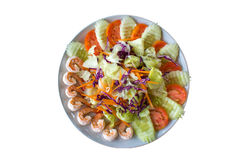 Isolate Shrimp Salad Royalty Free Stock Image
