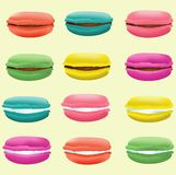 Isolate of sweet macaron. Isolate of sweet color macaron Royalty Free Stock Photo