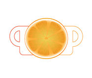 Isolate tea cup  tea cup and lemon Stock Image