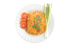 Isolate thai fried noodle. Royalty Free Stock Photos