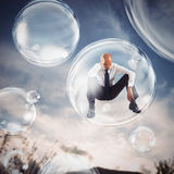 Isolate themselves inside a bubble Stock Images
