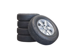 Isolate tire on white background Stock Image