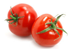 Isolate tomatoes Stock Image