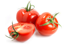 Isolate tomatoes Stock Photography