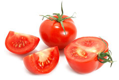 Isolate tomatoes Stock Images