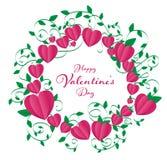 isolate valentines frame stock illustration