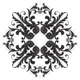 Baroque ornament decoration element. Isolate vintage baroque ornament retro pattern antique style acanthus. Decorative design element filigree calligraphy Royalty Free Stock Photo