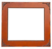 Isolate Wooden frame Stock Images