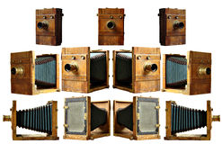 Isolated 19th century camera Stock Photo