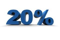 Isolated 20%. 3d illustration on white background Royalty Free Stock Photo