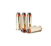 Isolated 38 bullets Stock Images
