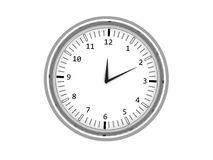 Isolated 3d chrome wall clock Stock Image