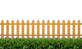 Isolated 3D Fence Royalty Free Stock Photos