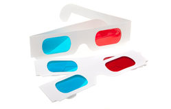 Isolated 3D Glasses Royalty Free Stock Photo