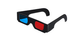 Isolated 3D glasses Stock Image