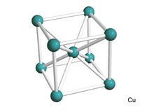 Isolated 3D model of a crystal lattice of copper royalty free illustration