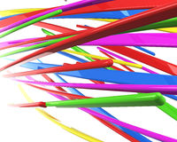 Isolated 3d multicolored cables Royalty Free Stock Photos
