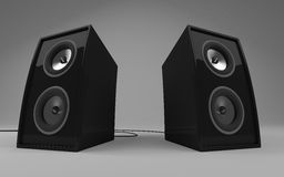 Isolated 3d speakers Royalty Free Stock Photos