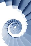 Isolated 3d spiral staircase Royalty Free Stock Image