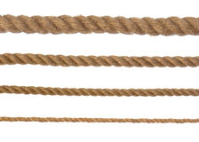 Isolated 4 different ropes Stock Photos