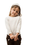 Isolated 4 Year Old. A 4 year old toddler, isolated against a white background royalty free stock photos