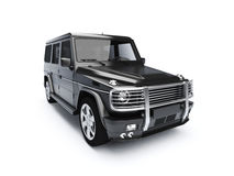 Isolated 4x4 SUV royalty free stock photography