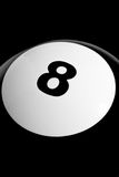 Isolated 8 Ball Close Up Stock Images