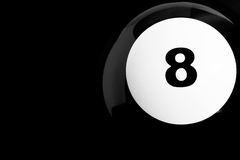 Isolated 8 Ball Close Up Royalty Free Stock Photo