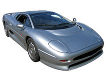 Isolated 80s silver super car Stock Image