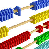 Isolated abacus and house metaphor Stock Photography