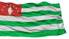Isolated Abkhazia Flag. Waving on White Background, High Resolution Stock Image