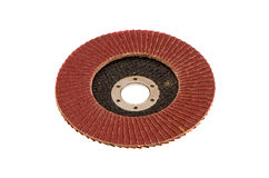 Isolated abrasive disk for wood grinding Royalty Free Stock Photo