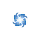 Isolated abstract blue color spining spiral logo. Swirl logotype. Water icon. Vortex sign. Liquid symbol. Conditioning. System emblem. Vector aqua illustration Royalty Free Stock Image