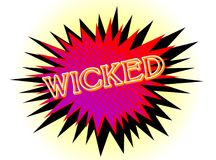 Isolated Abstract Cartoon Wicked Explosion. A cartoon style wicked explosive motif over a white background Stock Photo